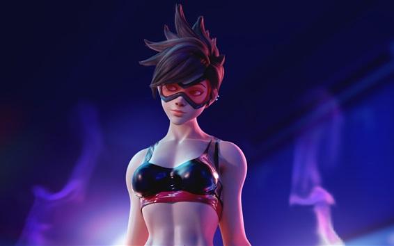Обои Overwatch, красивая девушка, короткие волосы