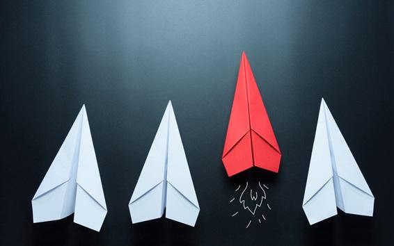 Wallpaper Paper plane, glider, origami