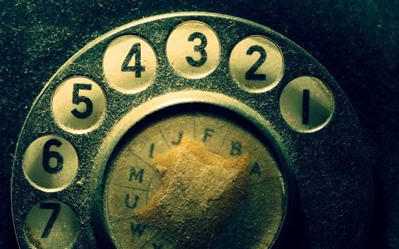 Fond d'écran Numéros de téléphone composer le tableau, la poussière