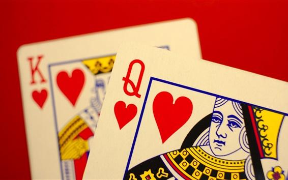 Fond d'écran Cartes de poker, roi, dame