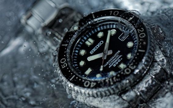 배경 화면 세이코 시계, 물