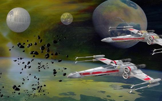 Wallpaper Star Wars, spaceship, space, Death Star