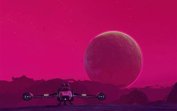 Fondos de pantalla Starship, planeta, imagen de arte