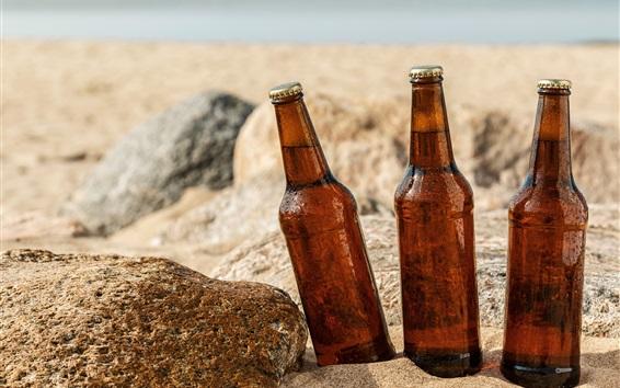 Fondos de pantalla Tres botellas de cerveza