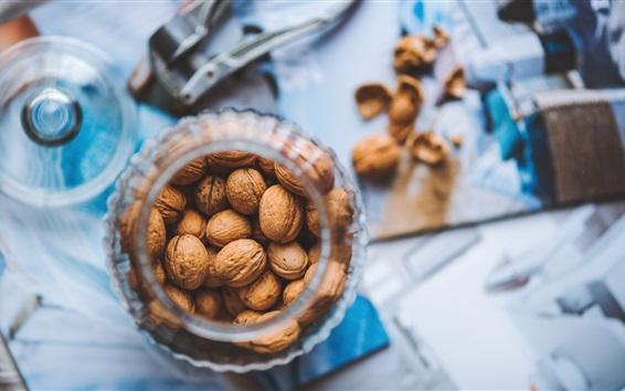 Wallpaper Walnut, nuts