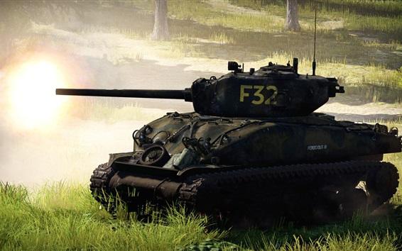 Wallpaper War Thunder, tank, war, grass