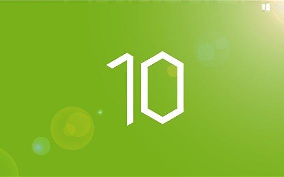Wallpaper Windows10, green background