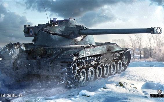 Wallpaper World of Tanks, winter, snow