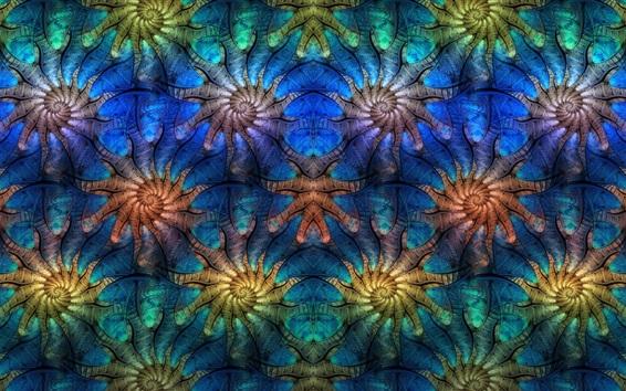Fond d'écran Image abstraite, symétrie, motif, fractale