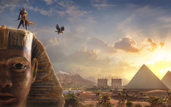 Wallpaper Assassin's Creed: Origins, Sphinx, Egypt