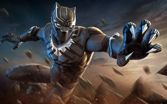 Wallpaper Black Panther, hands, superhero