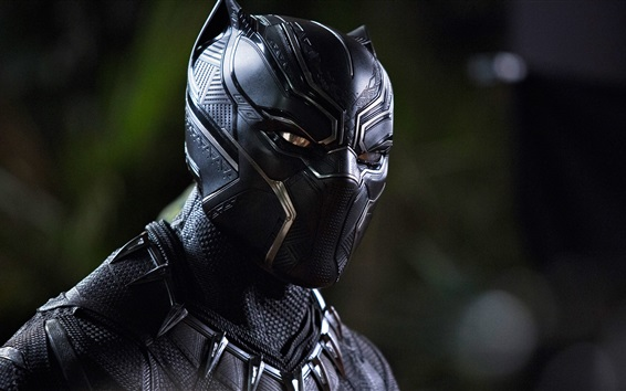 Wallpaper Black Panther, uniform, mask