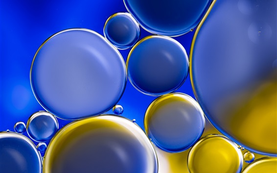 Wallpaper Blue and yellow bubbles, circles