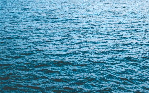 Fond d'écran Mer bleue, vagues, paysage naturel