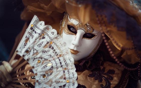 Fond d'écran Carnaval, masque, ventilateur