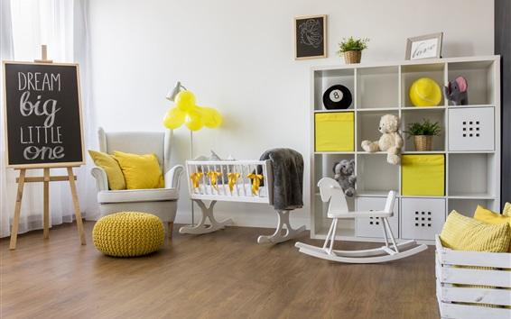 Wallpaper Children's room, furniture, interior