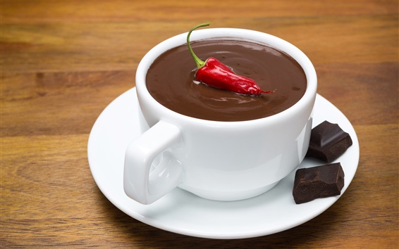 Wallpaper Chocolate, red pepper, cup