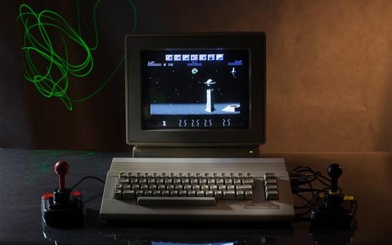 Wallpaper Classic computer, keyboard, game, retro