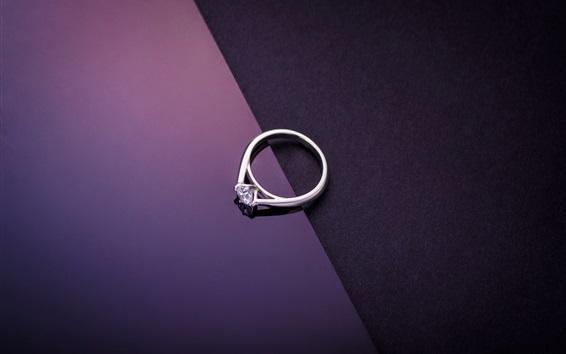 Wallpaper Diamond ring, purple black background