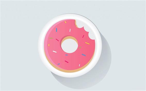Wallpaper Doughnut, vector picture