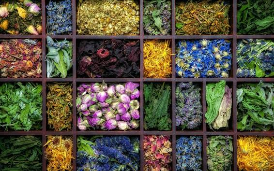 Wallpaper Dry flowers, flower tea