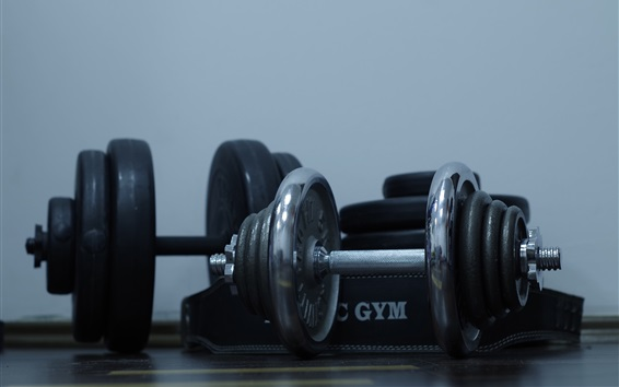 Wallpaper Dumbbells, gym