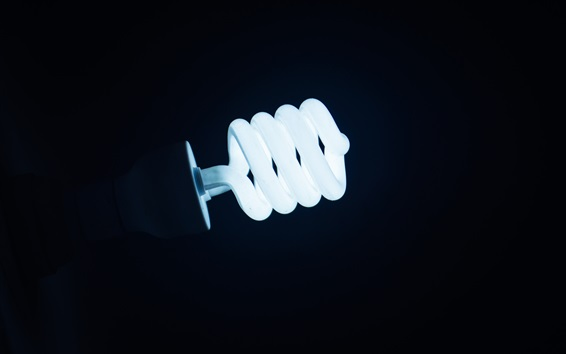 Wallpaper Electricity lamp, spiral, night