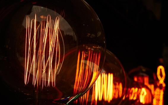 Fond d'écran Lampe à électricité, lumière chaude