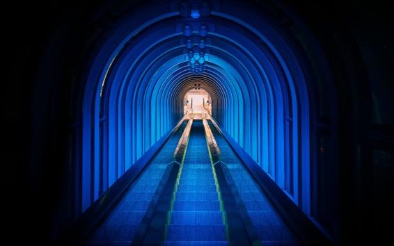 Fond d'écran Escalier, escalier, métro, tunnel