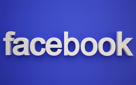 Обои Логотип Facebook, синий фон