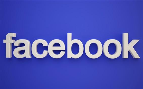 Fond d'écran Logo de Facebook, fond bleu