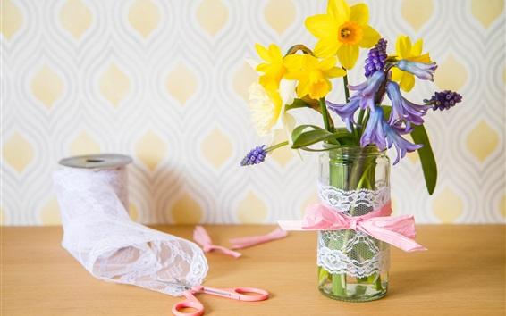 Fond d'écran Fleurs, jacinthes, jonquilles