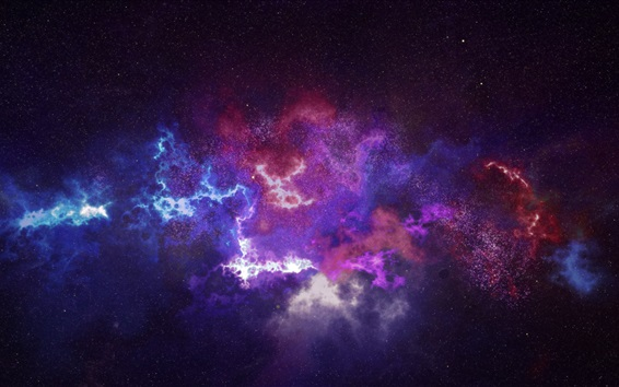 Wallpaper Galaxy, constellation, starry, space