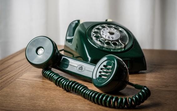 Wallpaper Green telephone