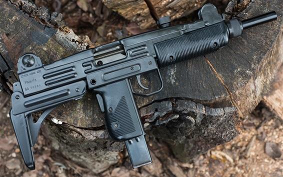 Wallpaper Israel UZI Model B gun