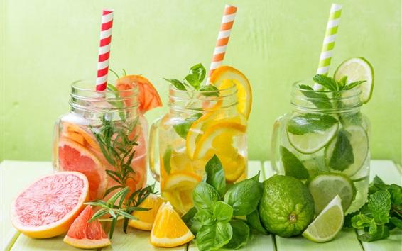 Wallpaper Lemon, citrus, lime, drinks, mint