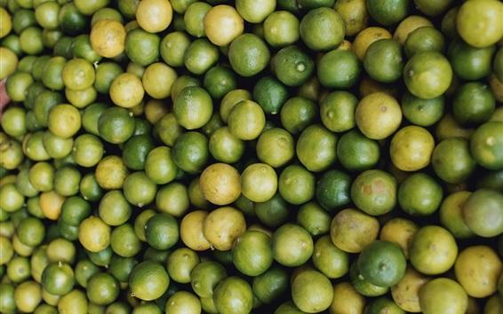 Wallpaper Many green limes, citrus, fruit