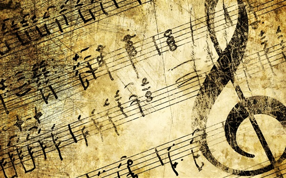 Wallpaper Music, treble clef, texture