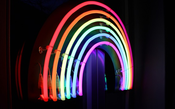 Wallpaper Neon lights, rainbow colors