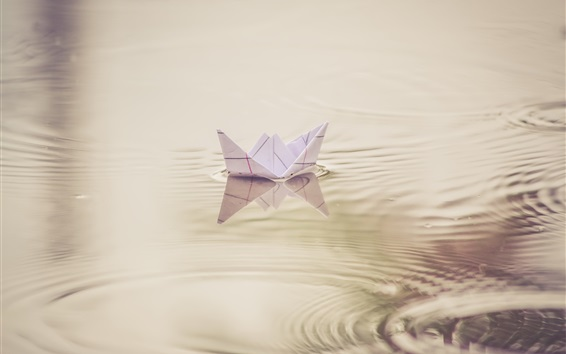 Wallpaper Paper boat, toy, water