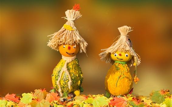 Wallpaper Pumpkin, scarecrow