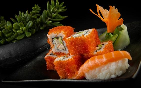 Wallpaper Rolls, caviar, seafood, sushi