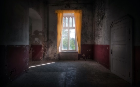 Wallpaper Room, window, light