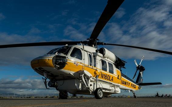 Wallpaper Sikorsky S-70A transport helicopter