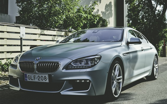 Wallpaper Silver BMW car