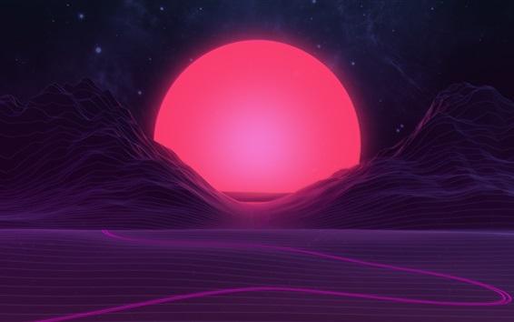 Hintergrundbilder Sonnenaufgang, Sonne, Berge, Design der abstrakten Kunst