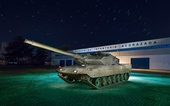 Wallpaper Tank, night, weapon