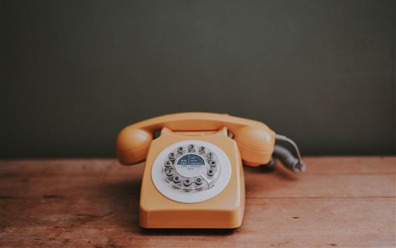 Wallpaper Telephone apparatus, retro style, dial board