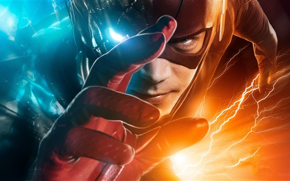 Wallpaper The Flash, hero, hand