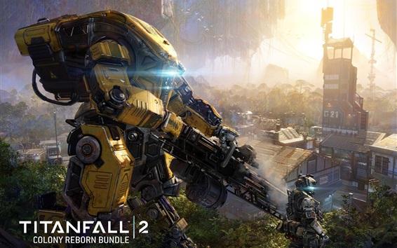Wallpaper Titanfall 2, robot, gun